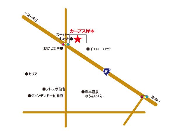 カーブス岸本マップ